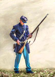 Union Soldier reloading by Randy Steele